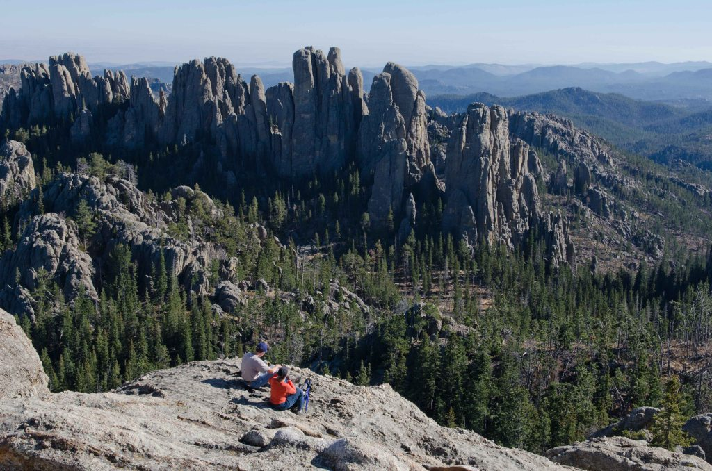 View of the Cathedral Spires  from Little Devil's Tower