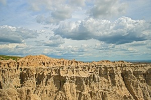 Endless cloud formation over the Badlands