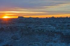 Sunrise over the Badlands of South Dakota
