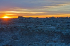 Sunrise over the Badlands of South Dakota