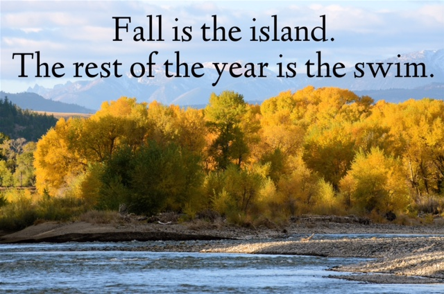 Fall is the island.